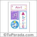 Abril, nombre, imagen para imprimir