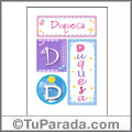 Duquesa, nombre, imagen para imprimir