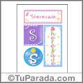 Sherezade, nombre, imagen para imprimir