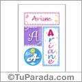 Ariane, nombre, imagen para imprimir