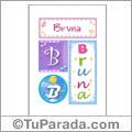 Bruna, nombre para imprimir carteles