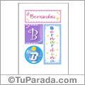 Bernardina, nombre en imagen para imprimir