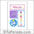 Alessia, nombre, imagen para imprimir