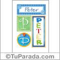 Peter - Carteles e iniciales