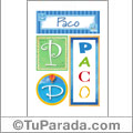 Paco - Carteles e iniciales