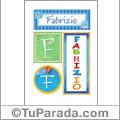 Fabrizio - Carteles e iniciales