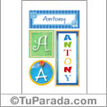 Antony - Carteles e iniciales