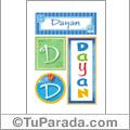 Dayan - Carteles e iniciales