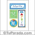 Martín - Carteles e iniciales