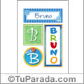 Bruno - Carteles e iniciales