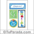 Gabriel - Carteles e iniciales