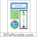 Emilio - Carteles e iniciales