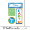 Fabio -Carteles e iniciales