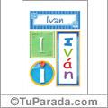 Iván -Carteles e iniciales
