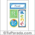 René - Carteles e iniciales