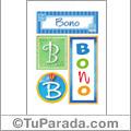 Bono - Carteles e iniciales