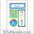 Adiel - Carteles e iniciales