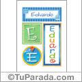 Eduardo - carteles e iniciales