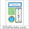 Valentín - Carteles e iniciales