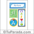 Arturo - Carteles e iniciales