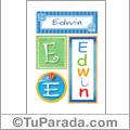 Edwin, nombre, imagen para imprimir