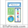 Nombre Horacio para imprimir carteles