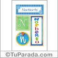 Nombre Norberto para imprimir carteles