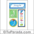 Nombre Joaquín para imprimir carteles
