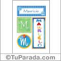 Mauricio, nombre, imagen para imprimir