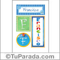 Francisco, nombre, imagen para imprimir