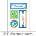 Nombre Orlando para imprimir carteles