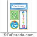 Guillermo, nombre, imagen para imprimir