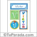 Nombre Victor para imprimir carteles