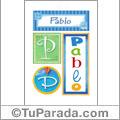 Nombre Pablo para imprimir carteles