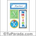 Xavier, nombre, imagen para imprimir