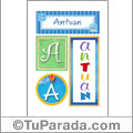 Antuan, nombre, imagen para imprimir