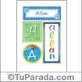 Nombre Allan para imprimir carteles
