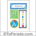Nombre Alfredo para imprimir carteles