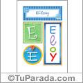 Eloy, nombre, imagen para imprimir