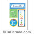 Nombre Ernesto para imprimir carteles