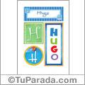 Nombre Hugo para imprimir carteles