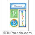Benicio, nombre, imagen para imprimir