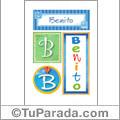 Nombre Benito para imprimir carteles