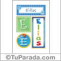 Nombre Elías para imprimir carteles