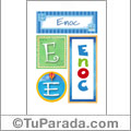 Nombre Enoc para imprimir carteles