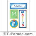 Nombre Matías para imprimir carteles
