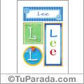 Lee, nombre, imagen para imprimir
