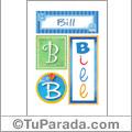 Bill, nombre, imagen para imprimir