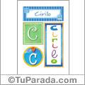 Cirilo, nombre, imagen para imprimir