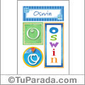 Nombre Oswin para imprimir carteles